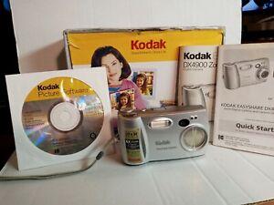 VINTAGE Kodak EasyShare DX4900 4.0MP Digital Camera - Silver USED IN BOX, WORKS