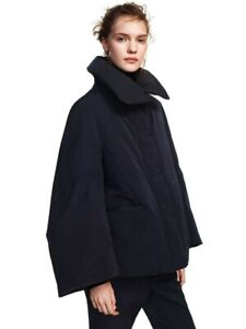 JIL SANDER UNIQLO +J BNWT Small Black Hybrid Down Short Coat Jacket Women