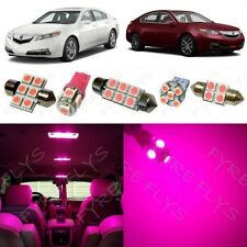 13x Pink LED Interior Lights Package Kit for 2009-2014 Acura TL +Tool AT3P