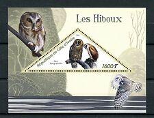 Ivory Coast 2016 MNH Owls 1v S/S Brown Wood Owl Birds Stamps