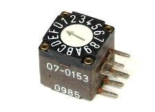 Elma 07-0153 Horizontal Hex Coded Switch 16-Position 0-F 6-Pin / Kodierschalter