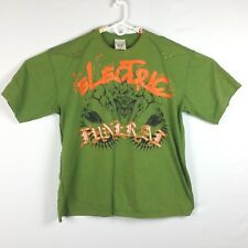 Blac Label Mens 5X Green Rock Ruined My Life Heavy Metal Electric Funeral Shirt
