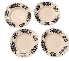 """More details for 7"""" vintage midwinter alpine blue tea plates by jessie tait"""