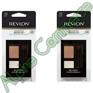*2-Pack* Revlon ColorStay Brow Kit 105 Blonde Wears Up To 24 Hours