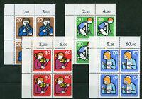 Berlin 468 - 471 postfrisch Eckrand Viererblock Ecke 1 VB 1974 Jugendarbeit