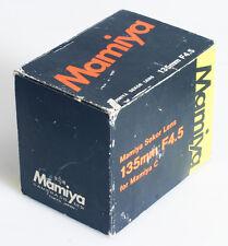 MAMIYA 135MM F/4.5 MAMIYA C LENS BOX ONLY