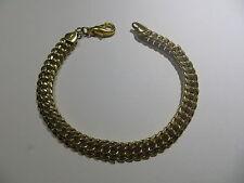 """Bracelet or 18 k maille américaine avec mousqueton -  poinçon rectangulaire """" VD"""