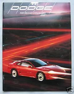 1991 Dodge Performance Range (USA) Brochure