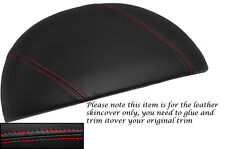 RED STITCH FITS BMW Z3 1995-2003 SPEEDO GAUGE HOOD LEATHER SKIN COVER ONLY