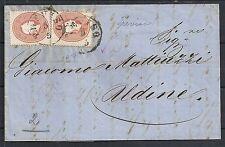 Lombardo Venice 1862 folded letter Treviso to Udine
