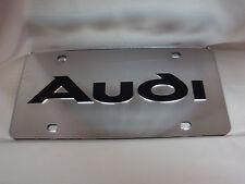 Audi  License Plate Colors - Silver/Black NEW!!
