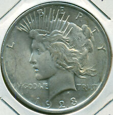1923-P PEACE DOLLAR, CHOICE BRILLIANT UNCIRCULATED, GREAT PRICE!