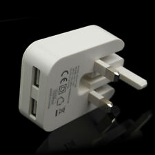 Foldable 2 USB Port 5V 2A UK Mains Plug Wall Charger For Apple iPhone X 8 8 Plus