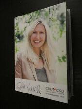 97206 Silke Launert Politik Musik TV original signierte Autogrammkarte