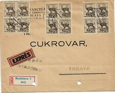 Slovakia, Registered, Express letter 1940