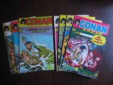 LOTTO CONAN E KAZAR N. 1, 2, 8, 16 - 13, 23, 27 EDITORIALE CORNO