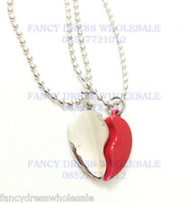 Men's heart shape necklace pendant locket with chain b'day gift boys FS30