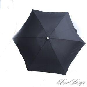 NWT #1 MENSWEAR Brooks Brothers Black Microfiber Compact Collapsible Umbrella NR