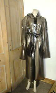 Trans Black PVC Rain Coat Mac Raincoat PVC-U-Like Slicker, 4XL 5XL Clear Vinyl