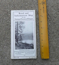 Original 1931  Road and Information Map for the National Forests of Oregon