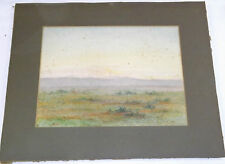 Original Water Colour Unknown Landscape By Unknown Artist - B Weston Cardiff
