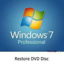 Windows 7 Professional Re-install Boot Restore Recovery DVD Disc Disk