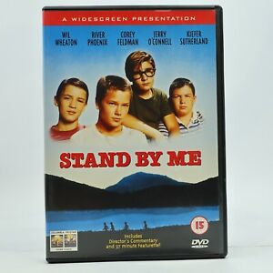 Stand By Me DVD Wil Wheaton Rob Reiner River Phoenix Keifer Sutherland 1986 R2