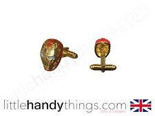 Iron Man New Metal Gold/Red Mens Cool Stylish Cuff Links Marvel Gift
