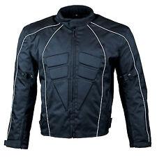 Men's Armoured Waterproof Cordura Textile Short Motorcycle Motorbike Jacket