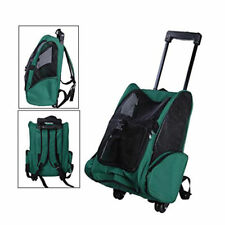 Portable Pet Carrier Pet Rolling Back Pack Travel Airline Wheel Luggage Bag