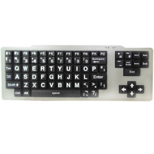 Visually Impaired USB Keyboard (White/Black Upper Case)
