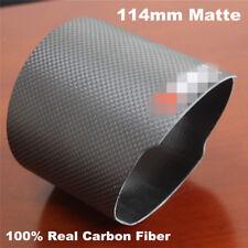 1 X 114mm 100% Carbon Fiber Exhaust muffler tip Universal design Outlet:114 mm