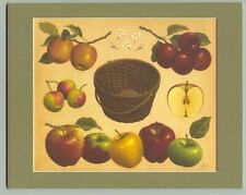 10 x 8 Longaberger Apple Basket Fall Harvest Print in Mat New in plastic bag