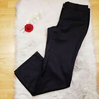 J. Crew 100% Wool City Fit Black Trouser Pants Size 8 Career Wear Wide Leg