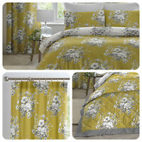 Dreams & Drapes MIRABELLA Ochre Yellow Duvet Cover Set & Bedroom Accessories