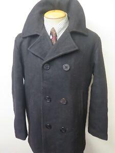 """Vintage Replica US NAVY PEA COAT Naval Clothing Kersey Wool Pembroke 40"""" Euro 50"""