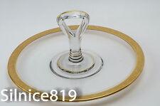Elegant Vintage Gold Encrusted Rim Center Handled Sandwich Tid bit Tray