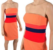 BCBG Max Azria sz 4 6 Strapless Peach Colorblock Reesie Dress $268 NWT Spaghetti