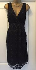 **Stunning Black Cotton, Lace Look Dress Size 10 Monroe/Party/wedding NWOTs!**