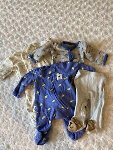 Lot of Preemie Baby Boy Carter's Sleepers