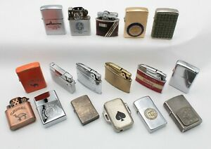 LOT OF 17 VINTAGE LIGHTERS ZIPPO IDEAL ADLITER ZENITH CHAMP MILITARY CAMEL 10432