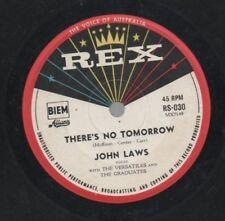 "JOHN LAWS  VERSATILES  Rare 1960 Oz Only 7"" OOP Rex Single ""There's No Tomorrow"""