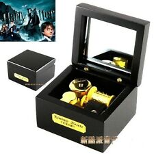 ♫ Harry Potter  ♫ Wooden Black Square Wind Up Music Box