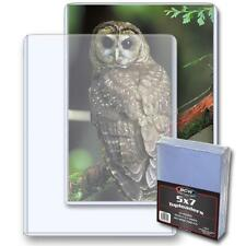 50 Bcw 5 x 7 Postcard / Photo Rigid Hard Plastic Topload Holders 5x7