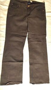 Izod Women's Boot Cut Black Stretchy Denim Jeans Size 14