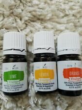 Young living essential oils Lot Of 3 Lime, Orange, Lemon