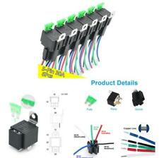 6 PACK 12V 5-pin Relay Harness with 30A ATO/ATC Blade Fuses & SPDT Relays Kit