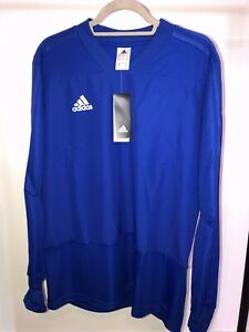 Mens Adidas Long Sleeve Training Top BLUE LARGE Climalite RRP £49.99 (BNWT)