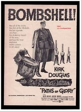 1958 Paths Of Glory Kirk Douglas, Movie Release Promo Print Advertisement