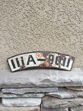 German Motorcycle License Plate WW2 Bmw Stuttgart Helmet Dagger Captured